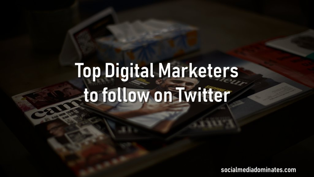 Top Digital Marketers to follow on Twitter- Cover